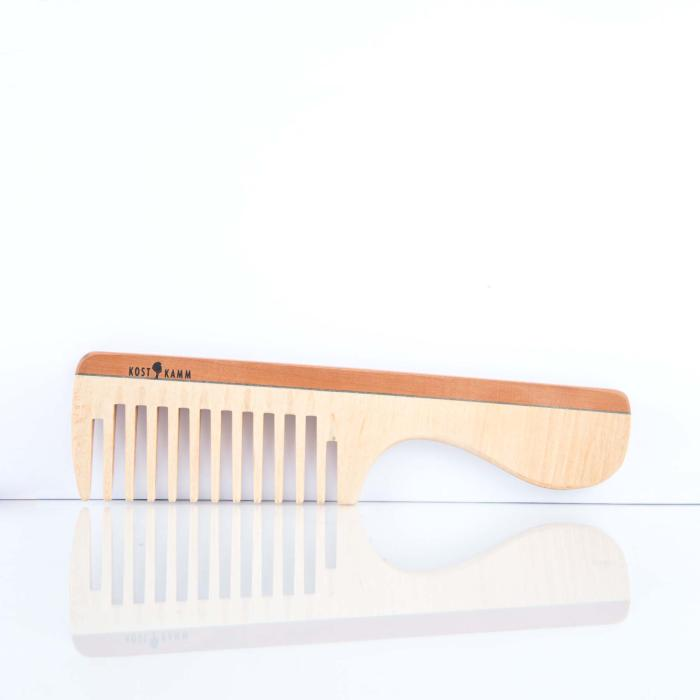 Kostkamm Griffkamm, Holz, breit, 19 cm