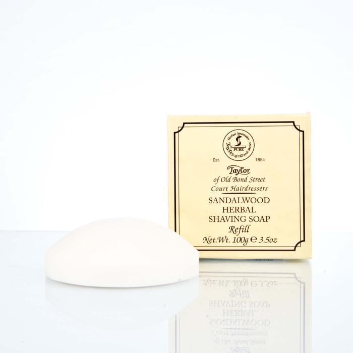 Taylor of Old Bond Street Refill Sandalwood Herbal Shaving Soap 100g