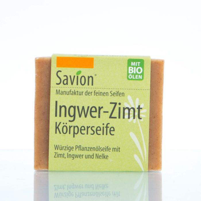 Savion Ingwer-Zimt-Seife Hand- und Körperseife 80g Block