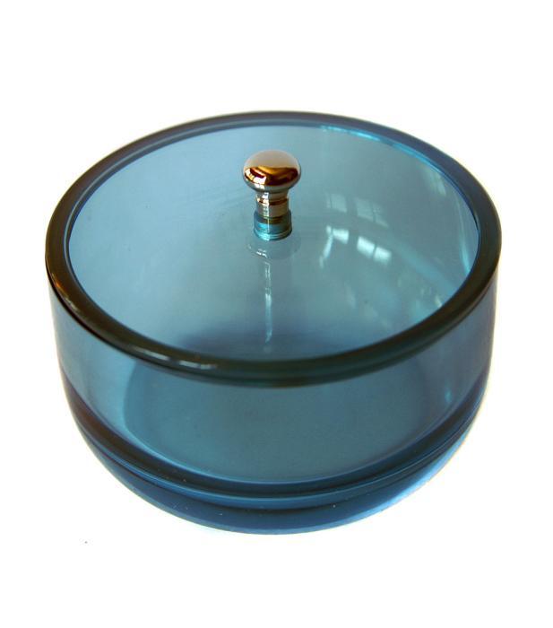 Rasiertiegel Rasierschale Aquamarin mit Deckel