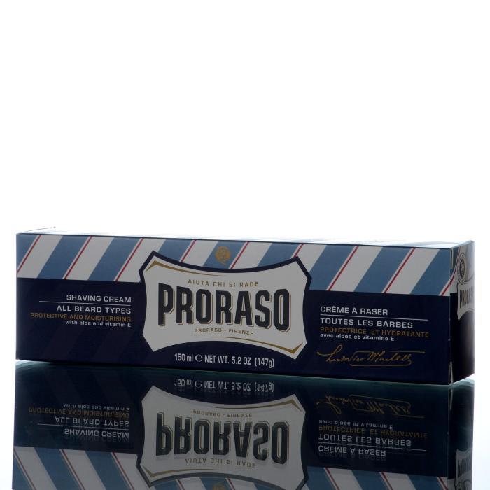 Proraso Rasiercreme Linea Blu mit Aloe und Vitamin E 150ml