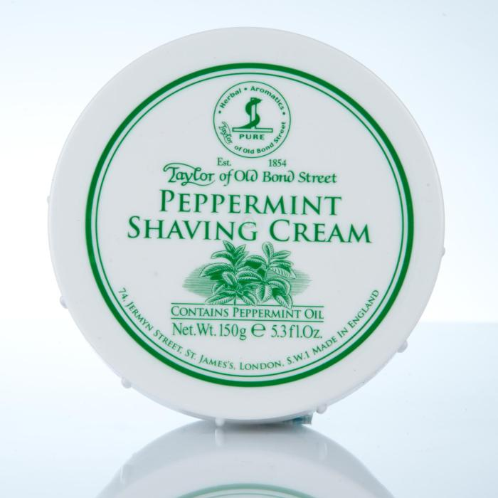 Taylor of Old Bond Street Peppermint Shaving Cream - Pfefferminz Rasiercreme