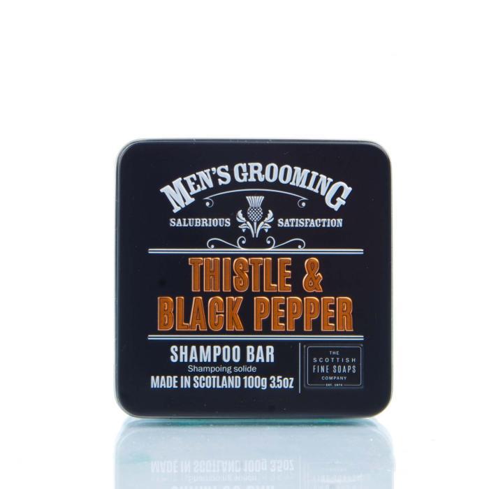 Scottish Fine Soaps - Mens Grooming Thistle & Black Pepper Shampoo Bar 100g