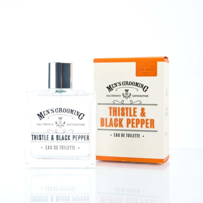 Scottish Fine Soaps - Mens Grooming Thistle & Black Pepper Eau De Toilette 100 ml