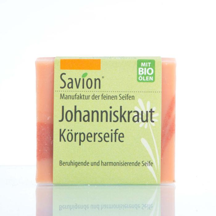 Savion Johanniskrautseife Hand- und Körperseife 80g Block