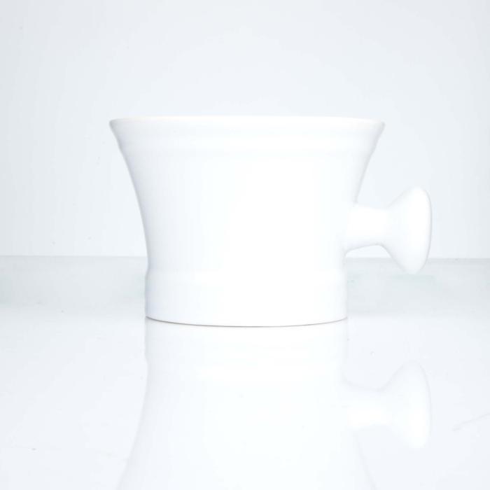 Erbe Rasierschale Keramik weiß mit Knauf