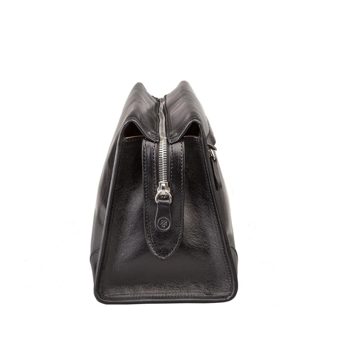 maxwell scott bags luxus herren kulturbeutel aus leder in schwarz tanta. Black Bedroom Furniture Sets. Home Design Ideas