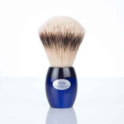 Hans Baier Rasierpinsel Acryl blau - Top Silberspitze handverlesen