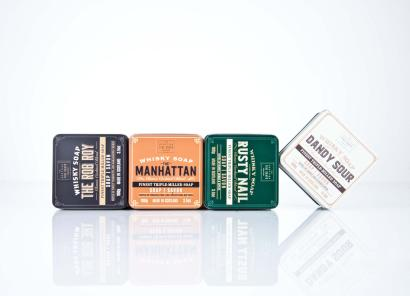 Scottish Fine Soaps Whisky Soap in a tin The Manhattan