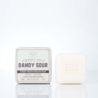 Scottish Fine Soaps Whisky Soap in a tin Dandy Sour