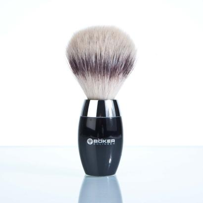 Boker Shaving Brush Badger Hair Silvertip Fibre black