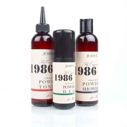 Justus POWER 1986 Shower, Tonic, Deo - Vorteilspack