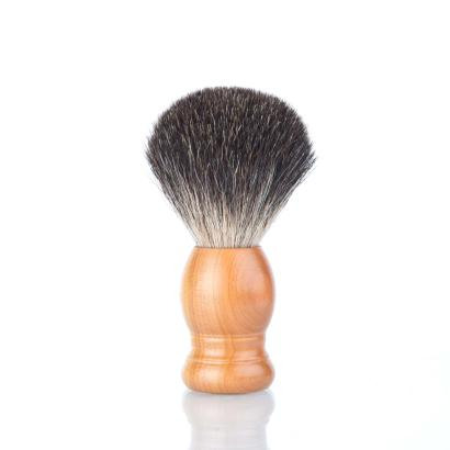Zwickmeister Shaving Brush Plum Wood Gray Badger Hair