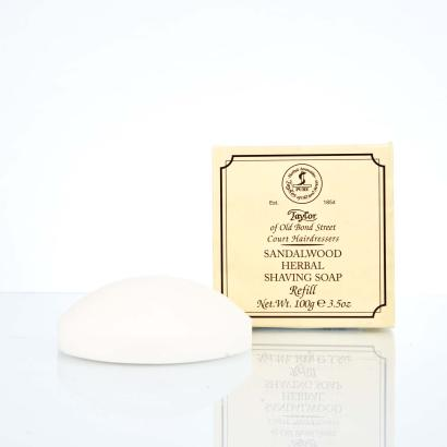 Taylor of Old Bond Street Refill Sandalwood Herbal Shaving Soap 100g