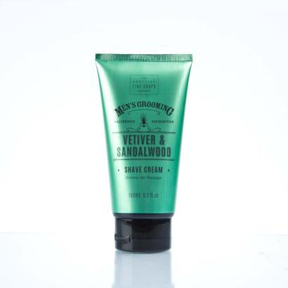 Scottish Fine Soaps - Mens Grooming Vetiver & Sandalwood Shave Cream 150ml