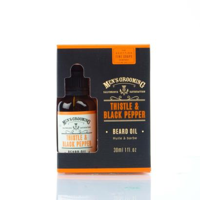 Scottish Fine Soaps - Mens Grooming Thistle & Black Pepper Beard Oil 30ml