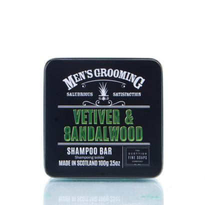 Scottish Fine Soaps - Mens Grooming Vetiver & Sandalwood Shampoo Bar 100g