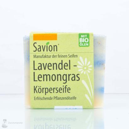 Savion Lavendel-Lemongras Hand- und Körperseife 80g Block