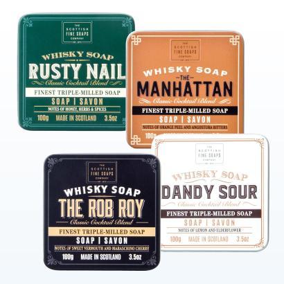 Scottish Fine Soaps Whisky Soap Geschenkset 4 x 100g
