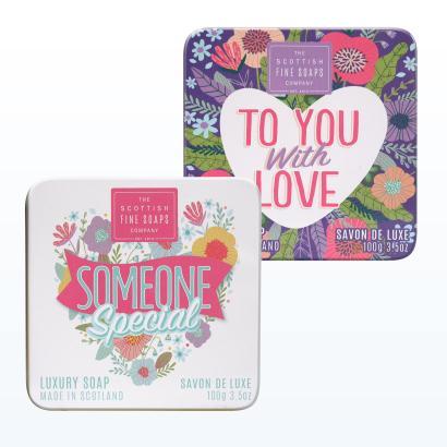 Scottish Fine Soaps Sweet Hearts Geschenkset 2 x 100g