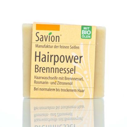 Savion Hairpower Brennnessel Haarwaschseife, 85 g, handgemacht