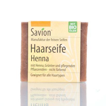 Savion Henna Bart- und Haarwaschseife,  85-Gramm-Block, handgemacht