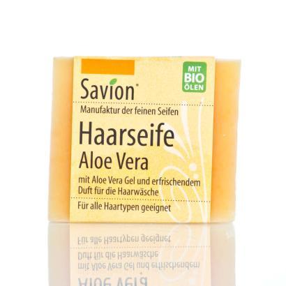 Savion Aloe Vera Bart- und Haarwaschseife, 85-Gramm-Block, handgemacht