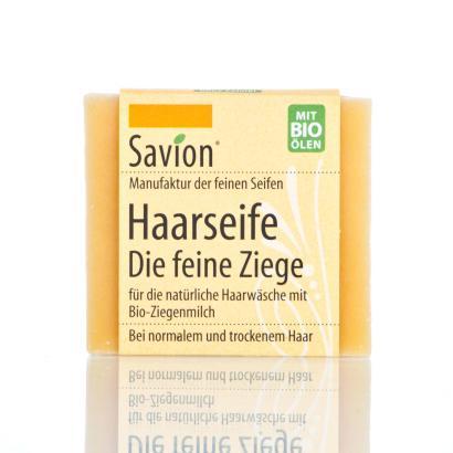 Savion Die feine Ziege  Bart- Haarwaschseife, 80-Gramm-Block, handgemacht