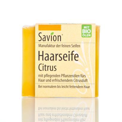 Savion Citrus Haarwaschseife, 85 g, handgemacht