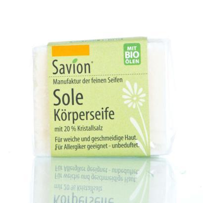 Savion Soleseife mit 20% Kristallsalz 90 Gramm Block