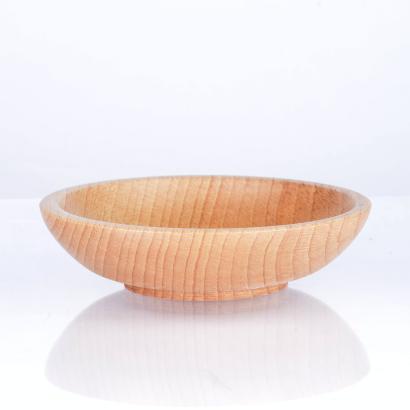 Rasierschale aus Buchenholz, rund, handgearbeitet