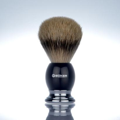 Böker shaving brush silvertip