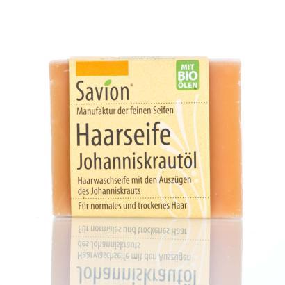 Savion Johanniskraut Haarwaschseife, 85 g, handgemacht