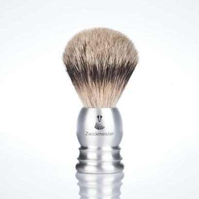 Zwickmeister Shaving Brush Badger / Aluminium