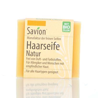Savion Natur neutral Bart- Haarwaschseife, 85-Gramm-Block, handgemacht