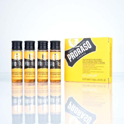 Proraso heißes Bartöl Wood and Spice 4 x 17 ml