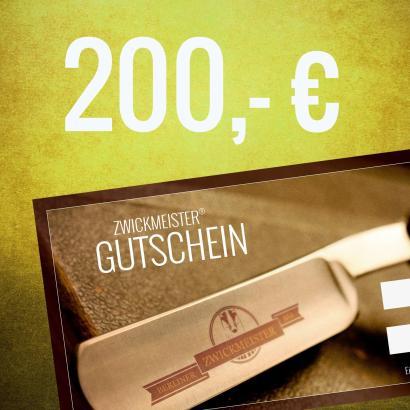 Zwickmeister Geschenkgutschein 200 Euro