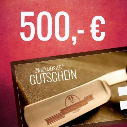 Zwickmeister Geschenkgutschein 500 Euro