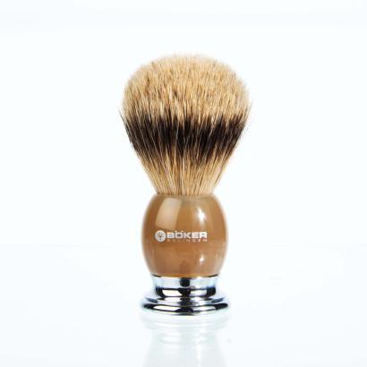 Boker shaving brush  real horn silvertip handpicked