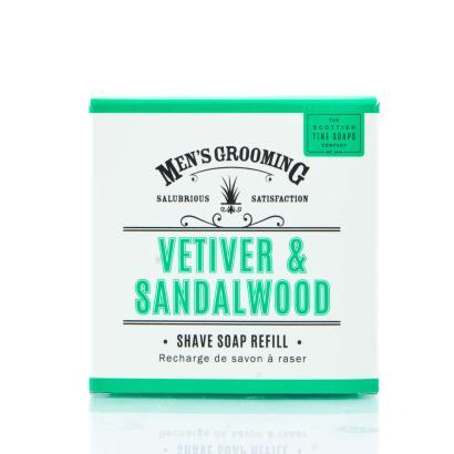 Scottish Fine Soaps - Mens Grooming Vetiver & Sandalwood Shave Soap Refill 100g