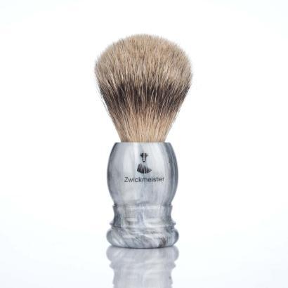 Zwickmeister Shaving Brush marbled, silver tip