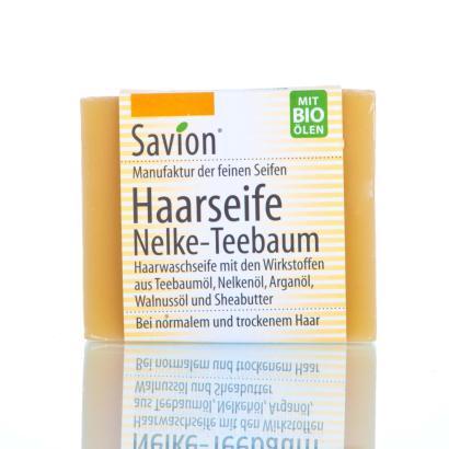 Savion Nelke Teebaum Haarwaschseife, 85g, handgemacht