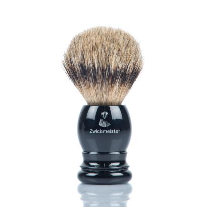 Zwickmeister Shaving Brush Silvertip Black